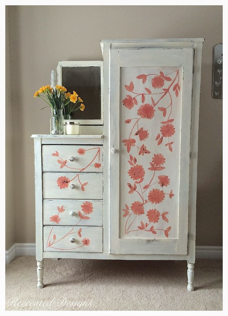 Recreated Designs: Hand Painting an Antique Armoire