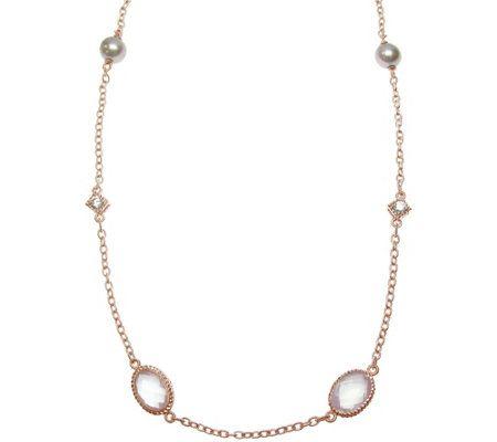 Judith Ripka 14K Rose Gold-Clad Station Necklace