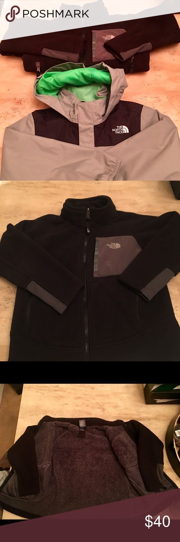 Little Boys North Face Jackets (Sale Pending)❌ Little Boys North Face Winter/Rain Jackets sz(5/6) Excellent Condition. Both jackets for $40 The North Face Jackets & Coats Raincoats