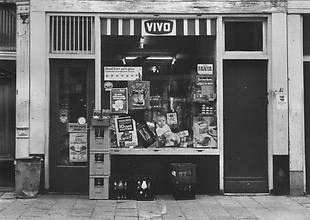 "1950's. VIVO neighborhood grocery store at the Oostenburgermiddenstraat 10 in Amsterdam. Vivo stands for ""Voluntary Purchase and Sales Organization"" and is a grocery chain that was founded in 1942 as cooperative of independent grocery stores. #amsterdam #1950"