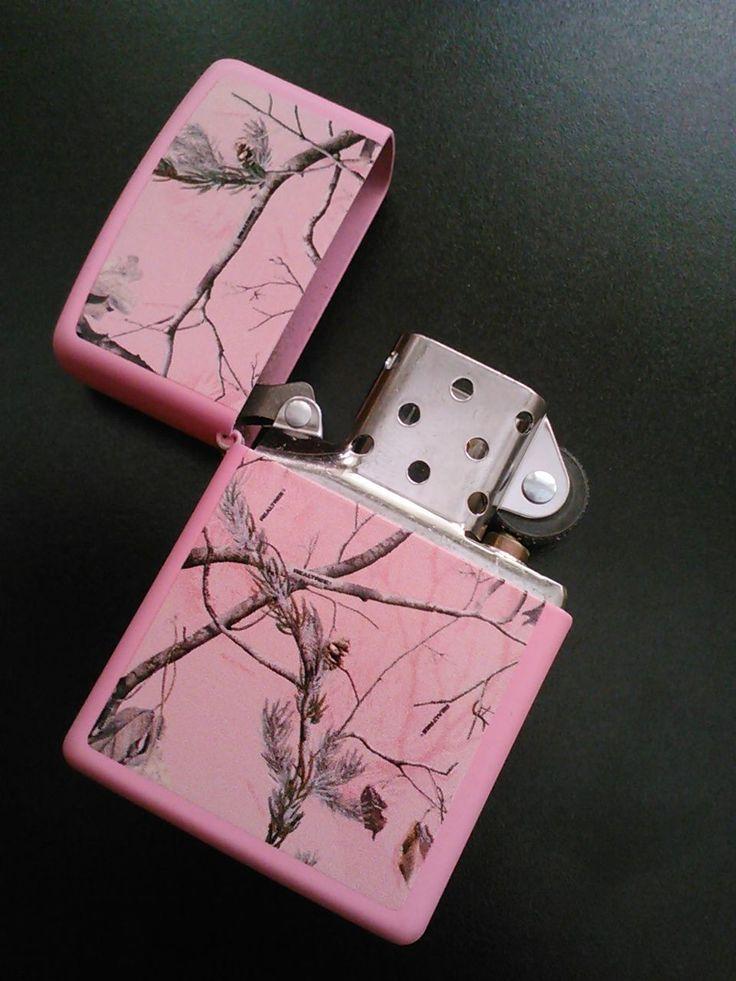 Pink camo lighter
