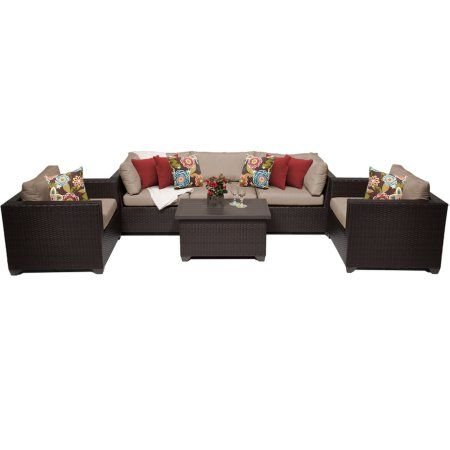 Premier 6 Piece Outdoor Wicker Patio Furniture Set 06b