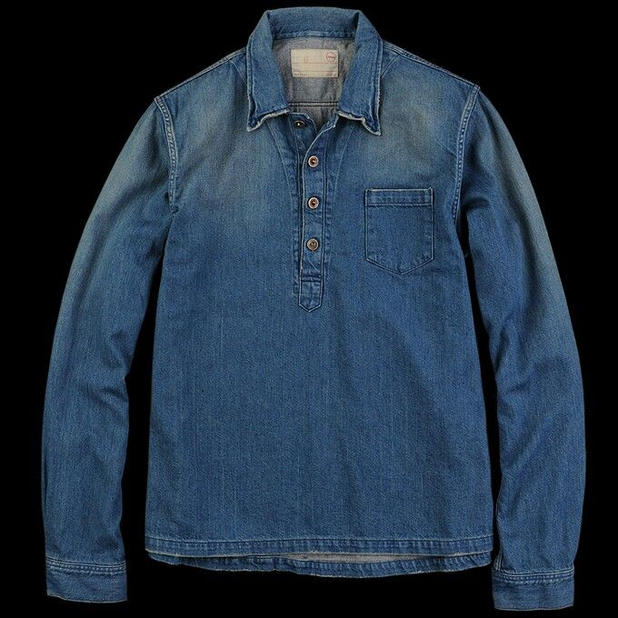 Pull Over #Denim #Shirt Like our FB page https://www.facebook.com/effstyle?ref=hl