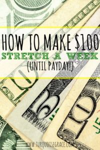 Have you ever realized a week before payday that you only have $100 left to your name? If so, you are not alone! Read these simple tips for some ideas to help stretch that last $100 over the rest of the week before your bank account repopulates.