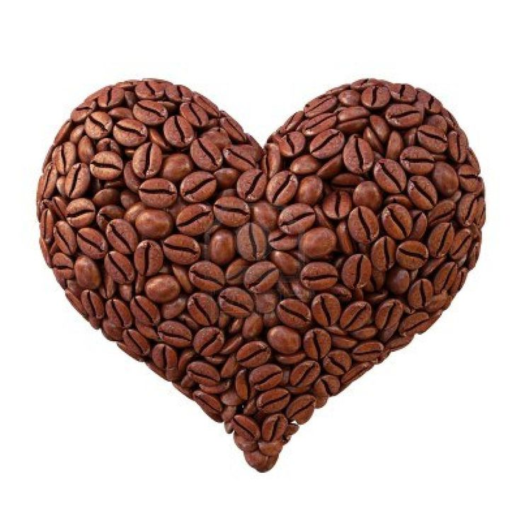corazón de los granos de café. aislado en blanco. Foto de archivo - 11457634
