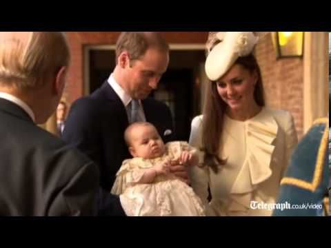 *Prince George arrives for christening at St James's Palace 23 October 2013. Links to video of departing from the church afterward also.