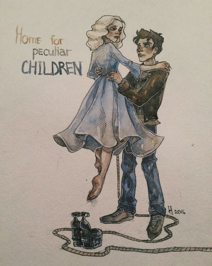 Miss Peregrine's home for peculiar children. Emma Bloom and Jacob Portman.