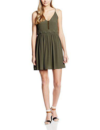 0a6c10cf964 See u Soon 6122057 Robe Femme Vert (Khaki) FR  42 (Taille Fabricant ...