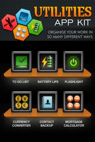 all in one app kit Get bunch of utility apps ios :https://itunes.apple.com/us/app/utilities-app-kit/id504532893?mt=8