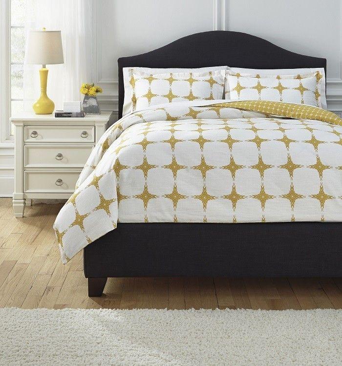 Contemporary King Bedding Set   Yellow   Sam Levitz Furniture