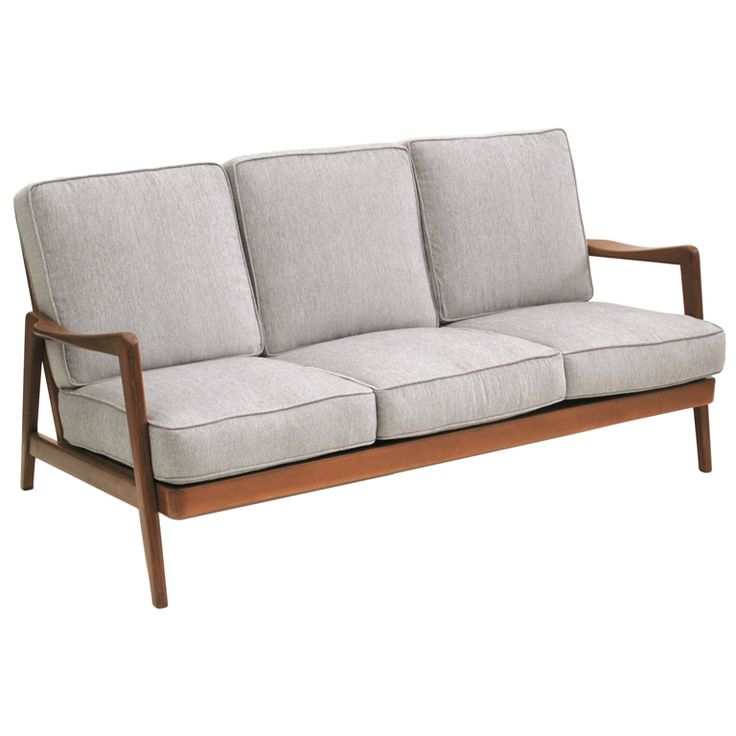 Dux mid century scandinavian design wood frame sofa 1960s for Danish design furniture