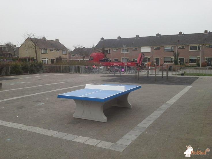 Pingpongtafel Blauw bij Basisschool de Molenwiek in Bovenkarspel