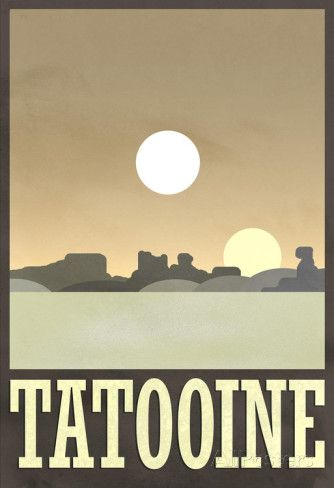 Tatooine Travel Poster Posters sur AllPosters.fr
