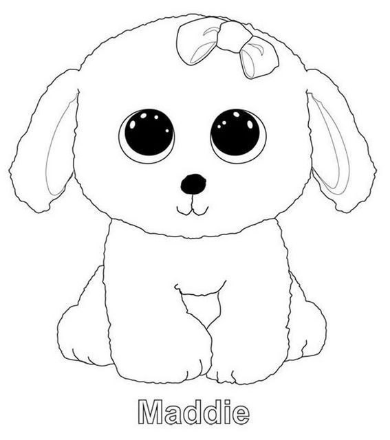 Maddie From Beanie Boo Coloring Sheet Bear Coloring Pages Beanie Boo Coloring Sheets