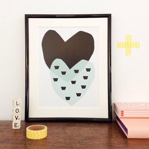 Prints | Elske | www.elskeleenstra.nl | poster 'Two hearts' from Seventy Tree