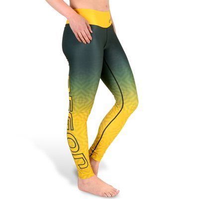 Oregon Ducks Women's Gradient Print Leggings – Green