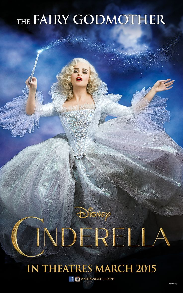 """""""Now off you go. For you shall go to the ball.""""  Helena Bonham Carter is The Fairy Godmother. Cinderella opens in Philippine theatres March 2015."""