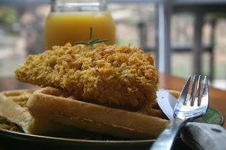 Gluten Free Chicken and Waffles! Crispy Rosemary Cornflake Chicken ...