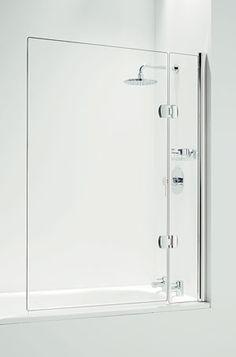 frameless two panel bath screen - Google Search
