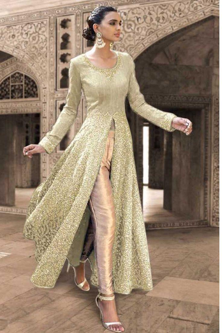 Green Georgette Designer Salwar Kameez