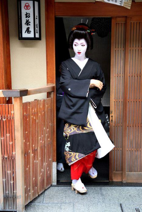 Kyoto, Japan geisha in Gion