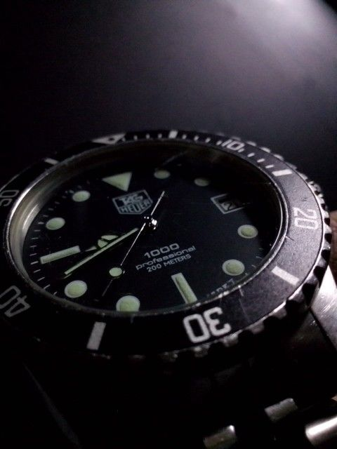 Tag Heuer 1000 Professional, Large. Late 80's