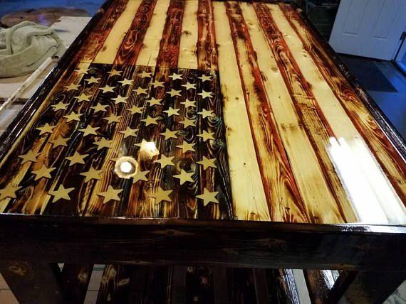 American Flag Coffee Table Coffee Table American Flag Wood