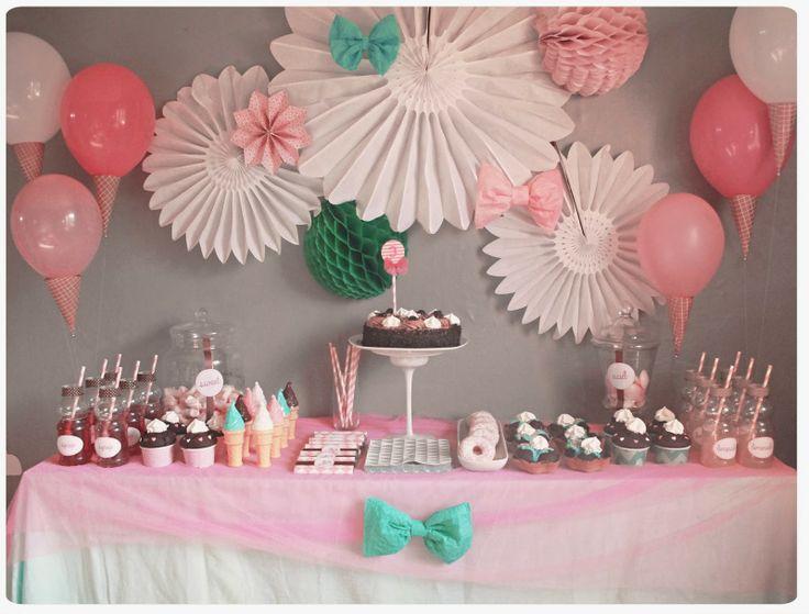 Sweet table d 39 anniversaire ses 3 ans gourmands chez cette fille watercolor pastel diy - Anniversaire 3 ans fille ...
