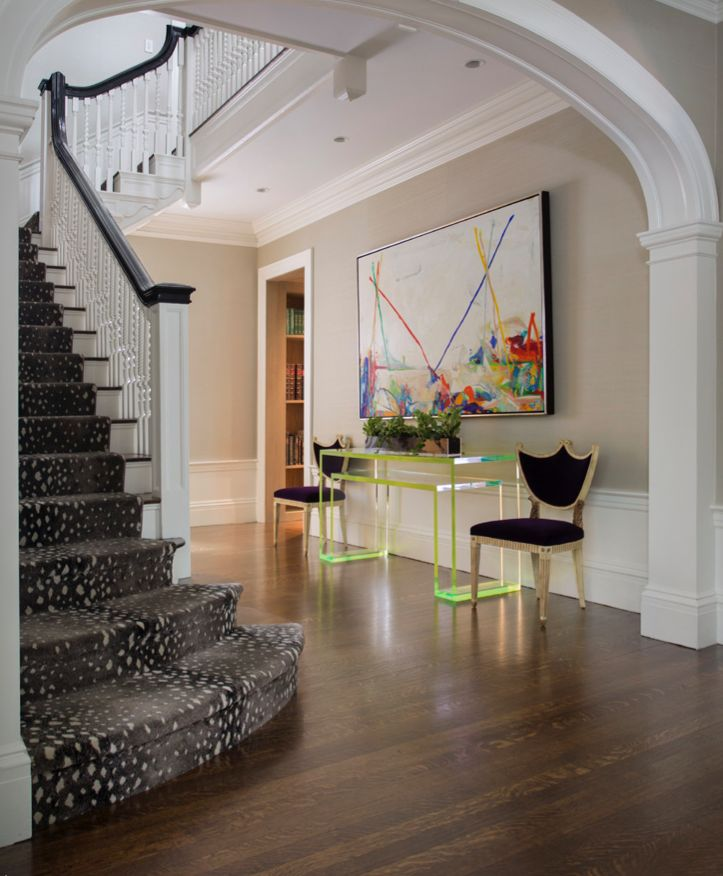 For The Stair Runner And Upstairs Hall Rug Of A House With Traditional Detailing In Massachusetts