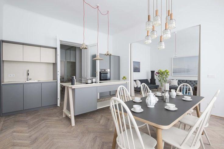 Apartment E&E | Destilat #openspace #scandinavian #kitchen