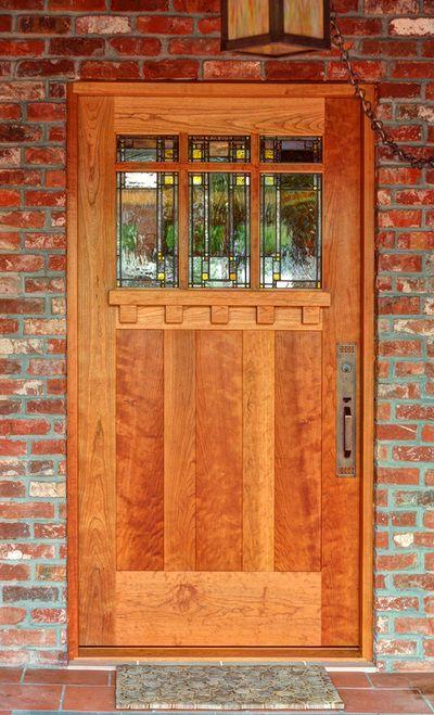 Prairie School Art Glass by Theodore Ellison Designs - Door by The Craftsman Door Company