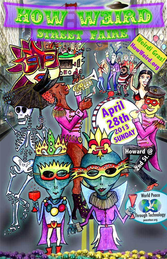 the 14th annual how weird street faire in san francisco laughing