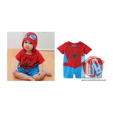 Baby Spiderman (KC-8) @Rp. 125.000,-   http://rumahbrand.com/kostum-anak/1419-baby-spiderman.html