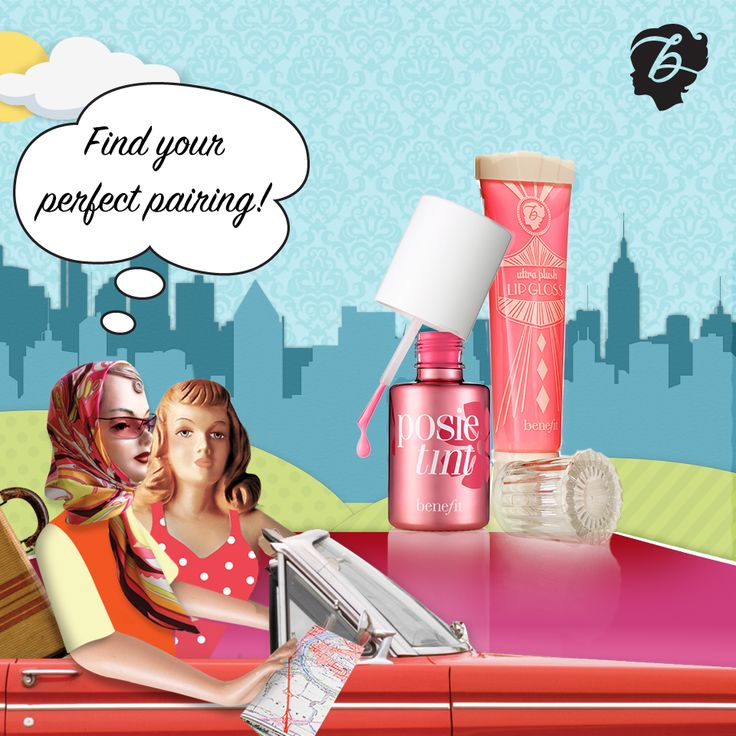 The perfect pink pairing...but who is yours? #drivenbybeauty