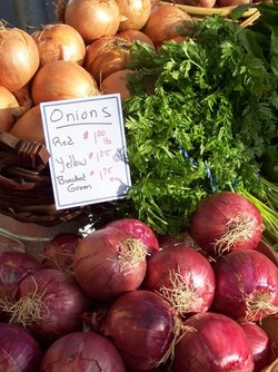 We love out famers markets and their fresh produce. Onions can help make a meal better, and top quality ones are even better!