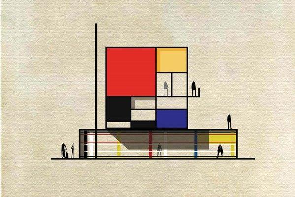 ¿Puede un edificio convertirse en una obra de arte pictórica? Ésta es la pregunta que se ha hecho el artista Federico Babina, respondiéndose con Archist, una serie de 27 imágenes que reinterpretan el lenguaje expresivo y la estética de algunos de los más populares artistas y arquitectos de los últimos años. Existe una relación simbiótica …