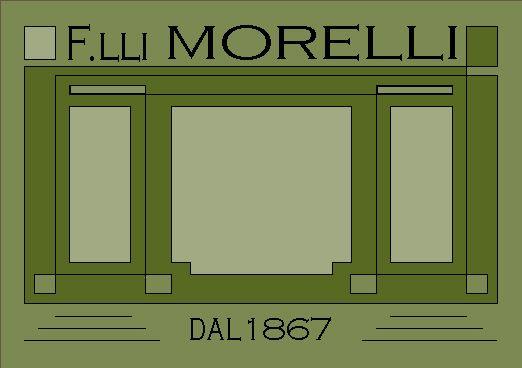 Logo della Libreria Fratelli Morelli dal 1867 a Dolo (VE). Il disegno si rifà alla storica vetrina dalla cornice in ferro con le due porte laterali.