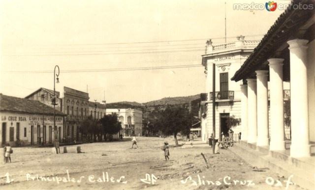 Calles principales de Salina Cruz, Oaxaca, México