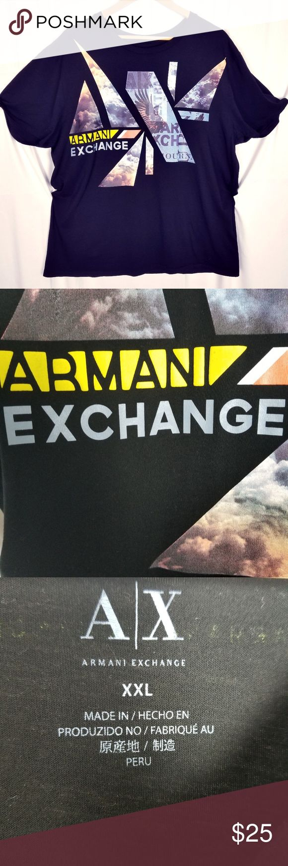 Armani Exchange T-Shirt Size XXL  Excellent Condition Any inquiries message me A/X Armani Exchange Shirts Tees - Short Sleeve