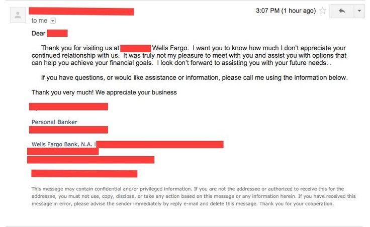 Thanks Wells Fargo?