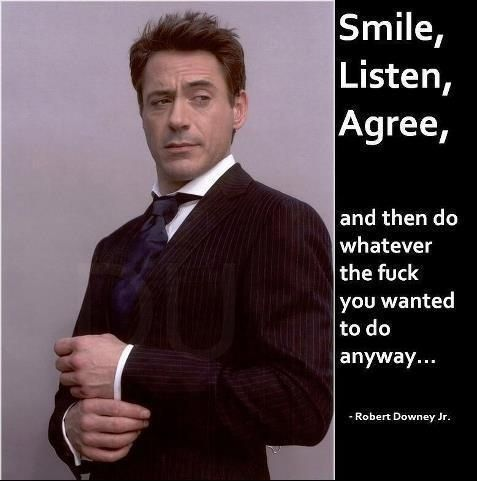 But he still has some amazing stuff to say:   32 Reasons Robert Downey Jr. Is The Most Perfect Man In The Universe