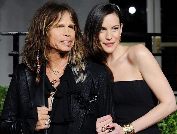 Steven Tyler and daughter actress Liv Tyler arrive at the Vanity Fair Oscar Party at Sunset Tower  in West Hollywood, California on February 27, 2011.  Read more: http://www.rollingstone.com/music/pictures/dads-who-rock-slash-elvis-ozzy-and-more-rock-stars-with-their-families-20090619/steven-tyler-0061324#ixzz2wX9rfdPt