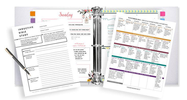 Her binder project free printables for Christian women
