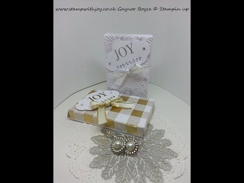 Fold flat gift box for tags 2 1/4 x 3 1/2 Stampin up - YouTube