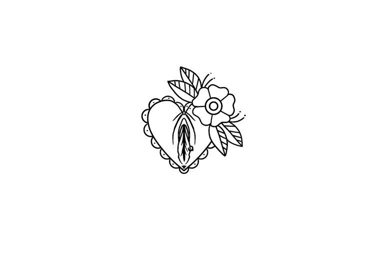 Old school  coração  flor buceta  bucetinha  ppk