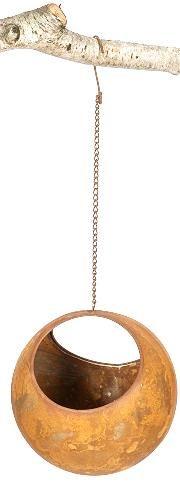 Home :: Outdoor Decor  :: Birdcage, Lanterns & Hanging Decoratives :: Set 6 Rusted Ball Hanging Garden Art Medium