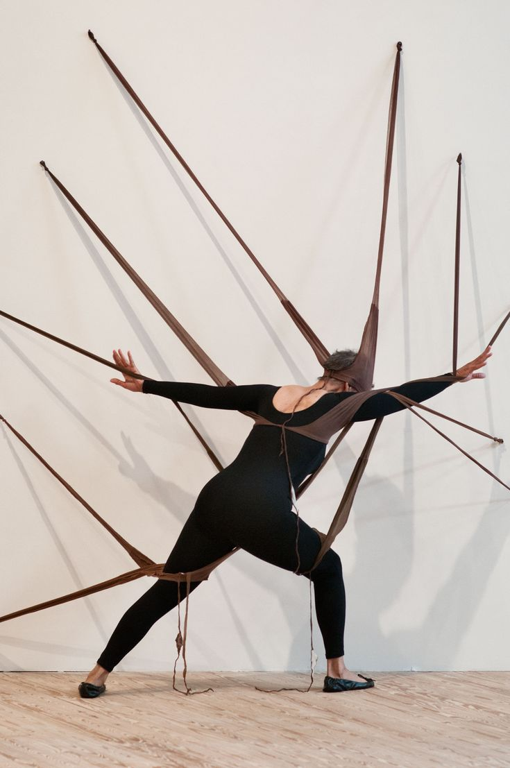 Maren Hassinger performing in Senga Nengudi's RSVP (1975–77/2012) at Contemporary Arts Museum Houston, November 17, 2012. Courtesy of the Artists and ...