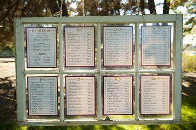 window pane seating chart... alphabetical?
