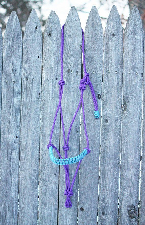 Purple Rope Halter Braided Noseband Halter by CounterCanterDesigns
