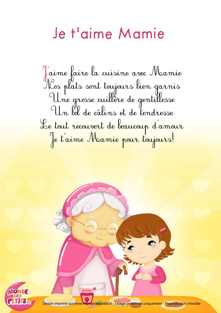 Paroles_Je t'aime Mamie - Chansons pour les grand-mères